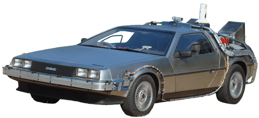 png download delorean vector flying #111272458