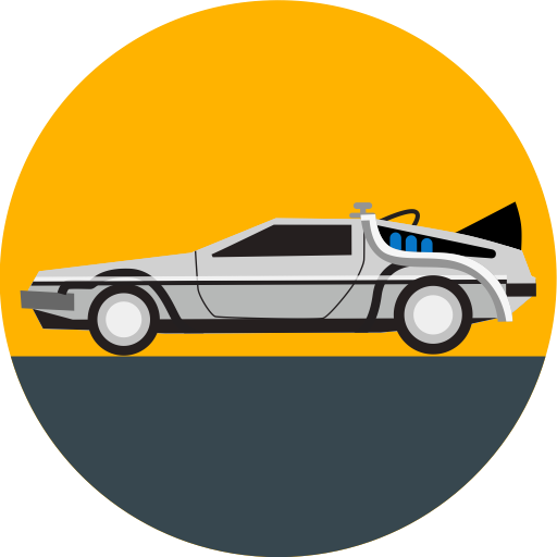 vector black and white stock delorean vector outline #111271380