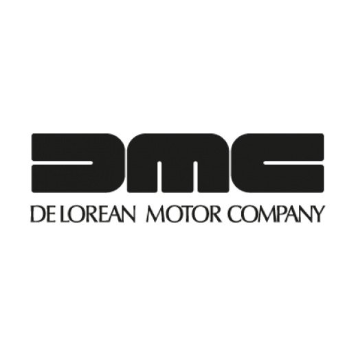 picture black and white stock Delorean Logos