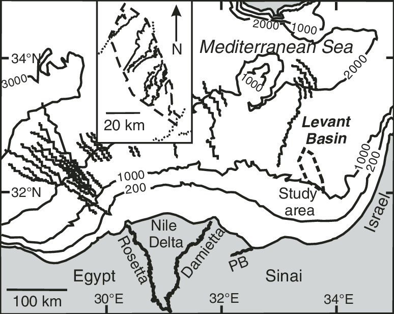 clipart stock Location map of Nile deep