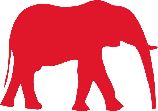 vector free stock Red Elephant