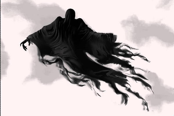 graphic black and white library Man Able To See Dementor