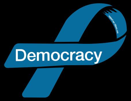 png transparent library Custom ribbon . Democracy clipart.