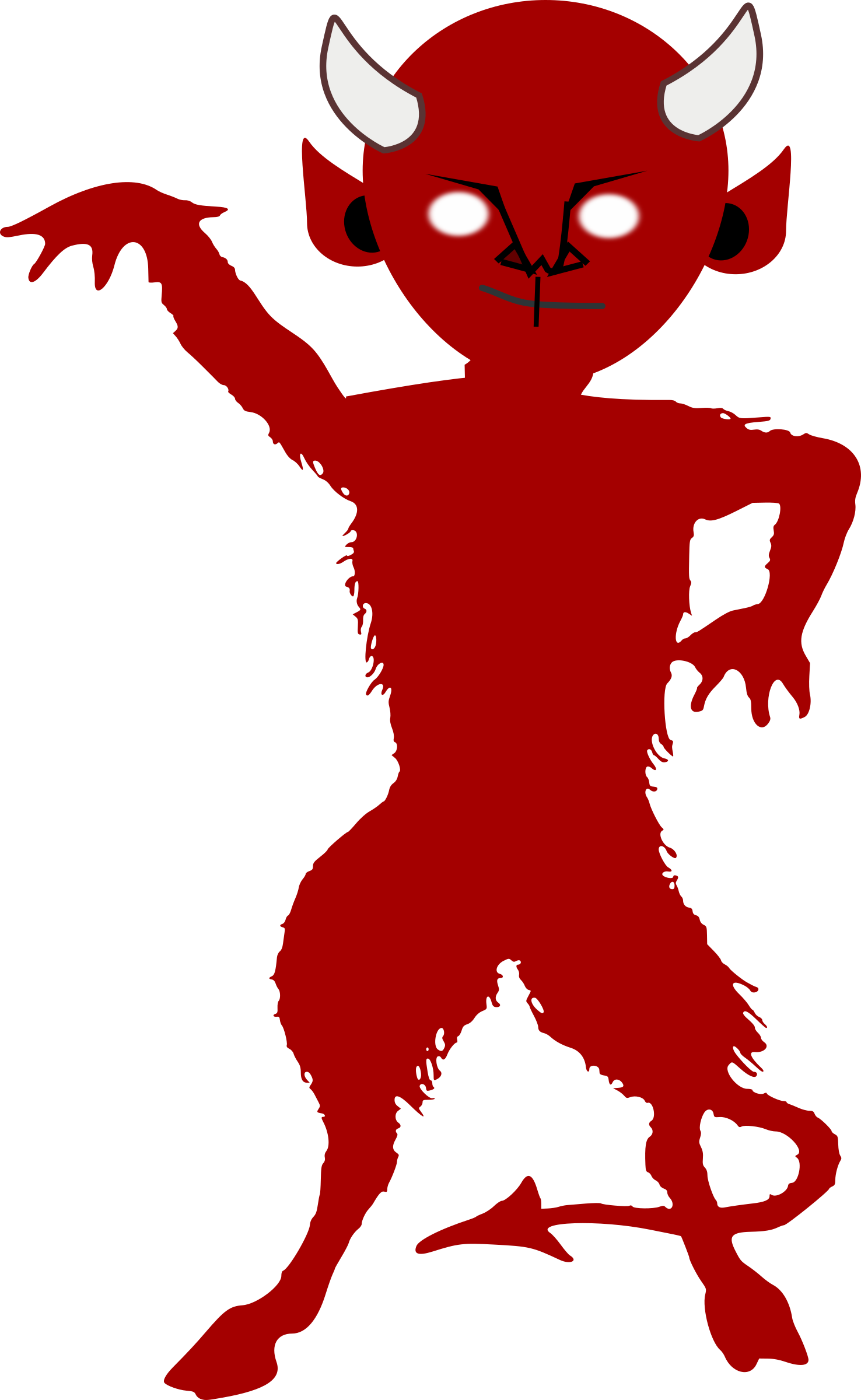 banner transparent library Demon clipart. Silhouette at getdrawings com