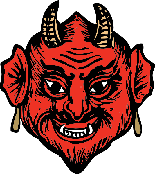 jpg transparent download Devil head clip art. Demon clipart