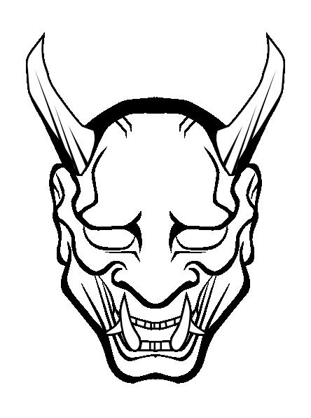 png transparent library Devil Outline Clip Art at Clker