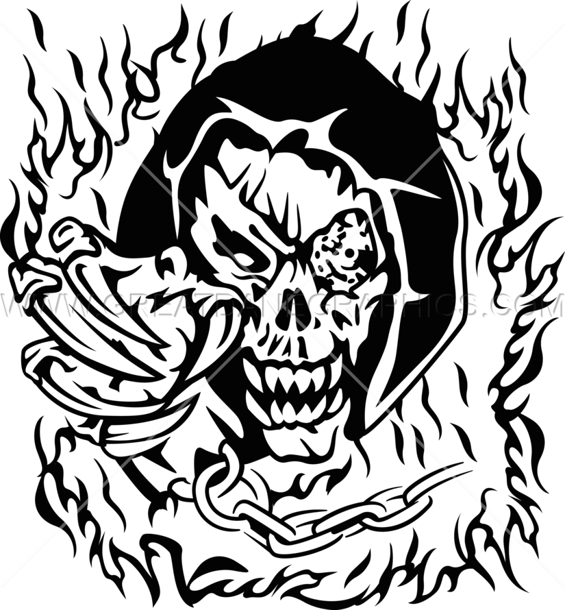 transparent library Demon Skull Drawing at GetDrawings