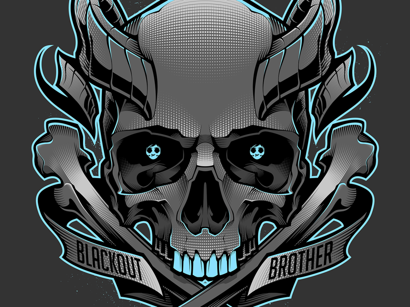 transparent download Blackout by charles adi. Demon vector