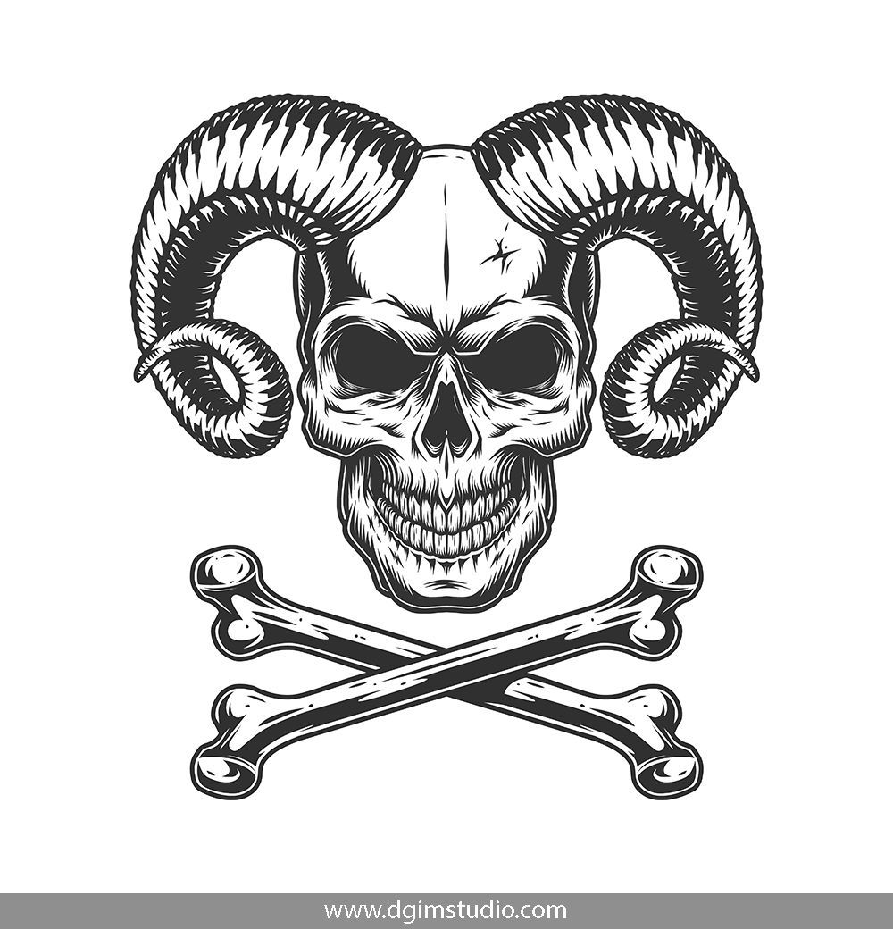 royalty free Demon vector. Demons emblems collection in