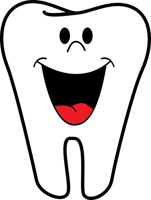 banner transparent Happy tooth clip art. Dental clipart borders