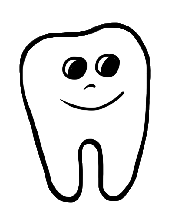 vector free Happy Tooth Clip Art