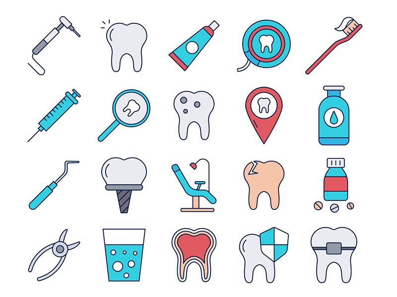 banner black and white download Dental vector. Freebie icon set by