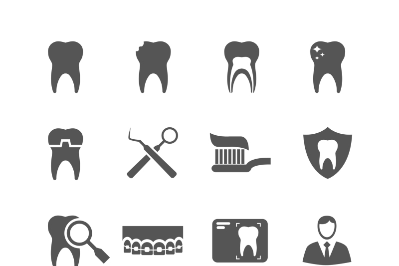 jpg royalty free library Dental vector. Icons by microvector thehungryjpeg