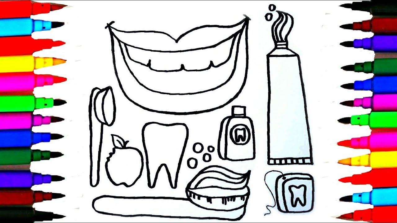 vector library stock Dentist drawing. How to draw kit