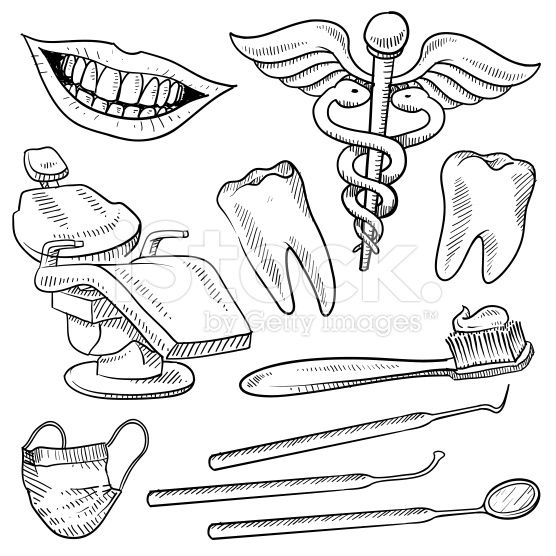 graphic transparent Vector dental assistant. Doodle style dentist equipment