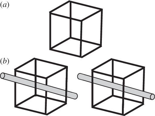 clip royalty free download Depth drawing. A necker cube two