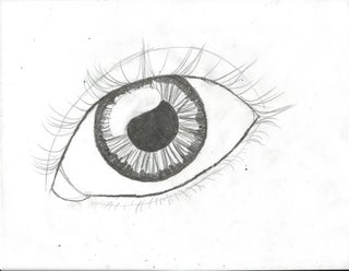 clip art freeuse stock Bean drawing eye. How to draw an