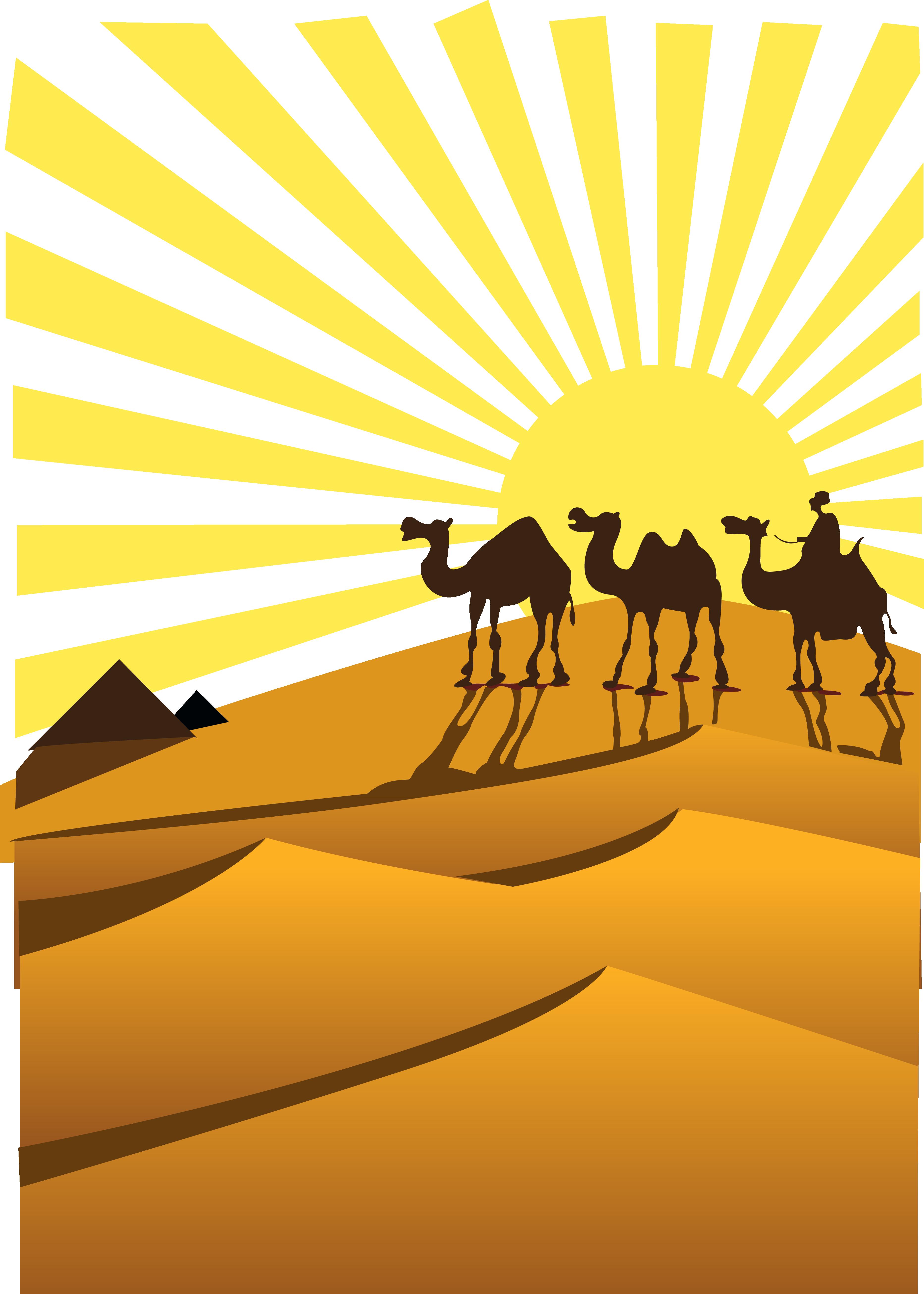 png download Desert clipart. Sahara camel clip art