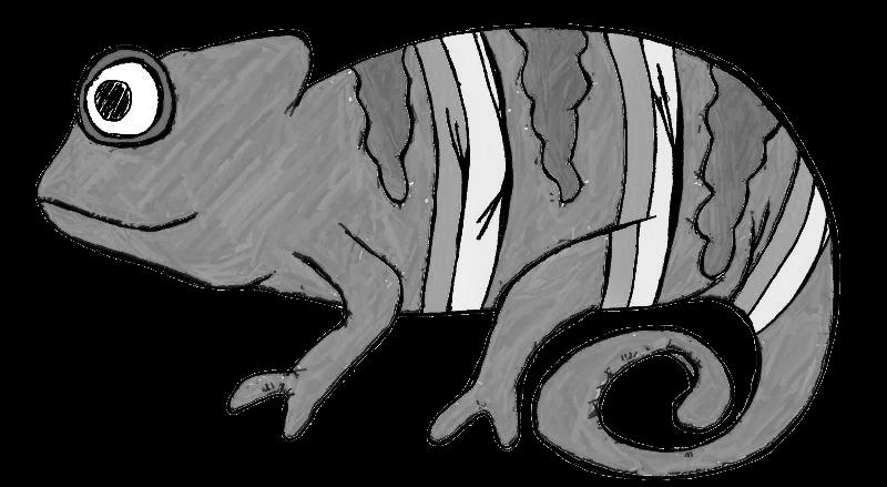 jpg black and white library Animals clipartblack com free. Desert animal clipart