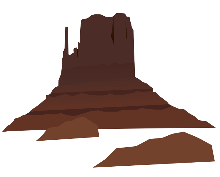 royalty free stock Free Desert Mountain Clip Art