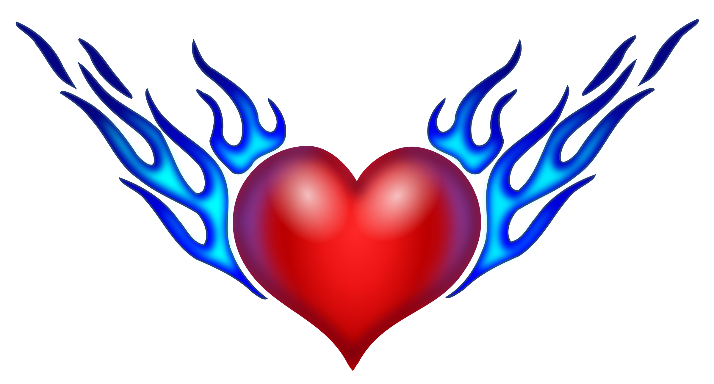png free stock Heart On Fire Drawing at GetDrawings
