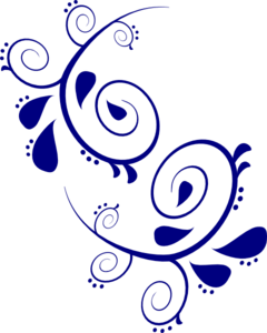 svg black and white Navy Paisley Scroll Clip Art at Clker