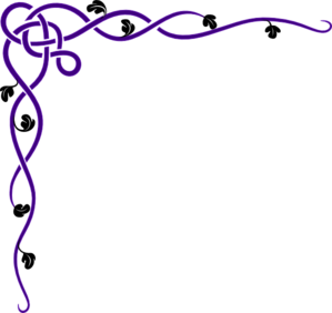 banner free stock Violet clipart border. Corner purple clip art.