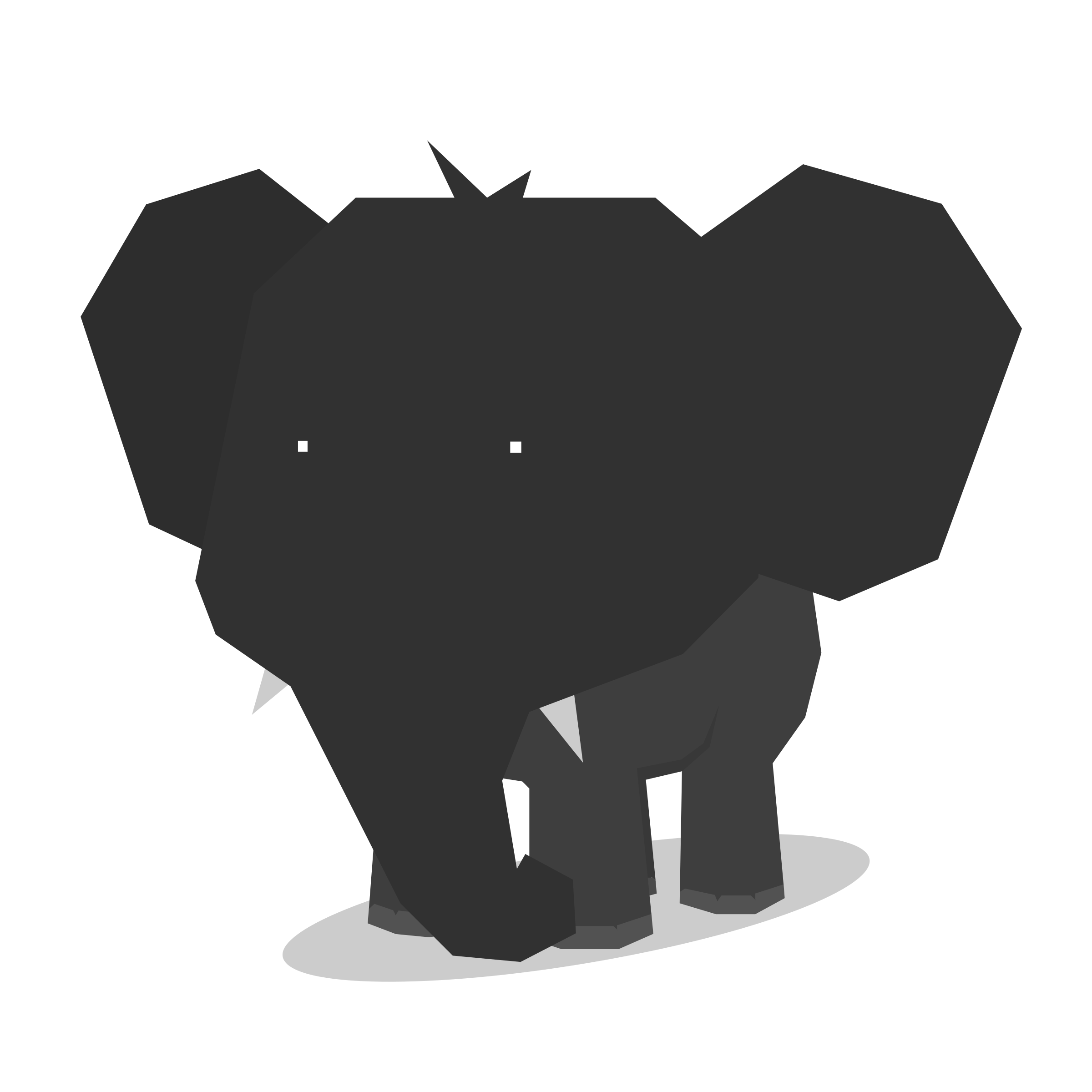 clipart library Elephant Minimal flat design Animal Icons PNG