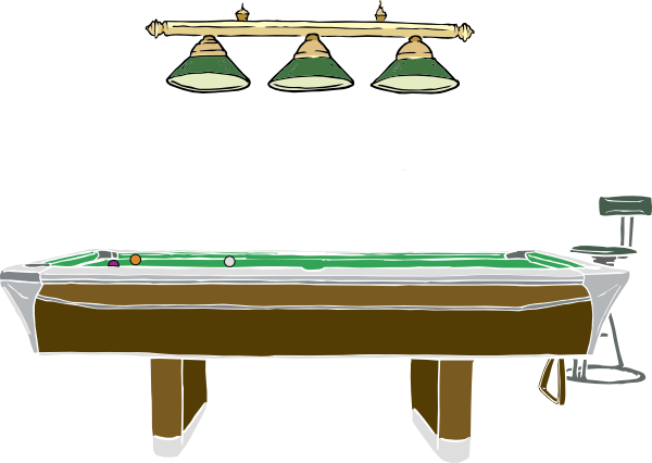 picture royalty free Billiards clipart billiard room. Table side view free.