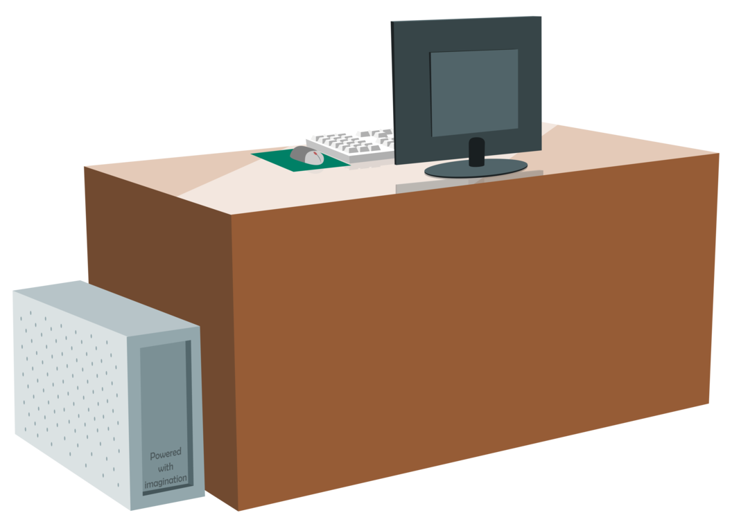 svg free library Computer by zutheskunk on. Desk vector.