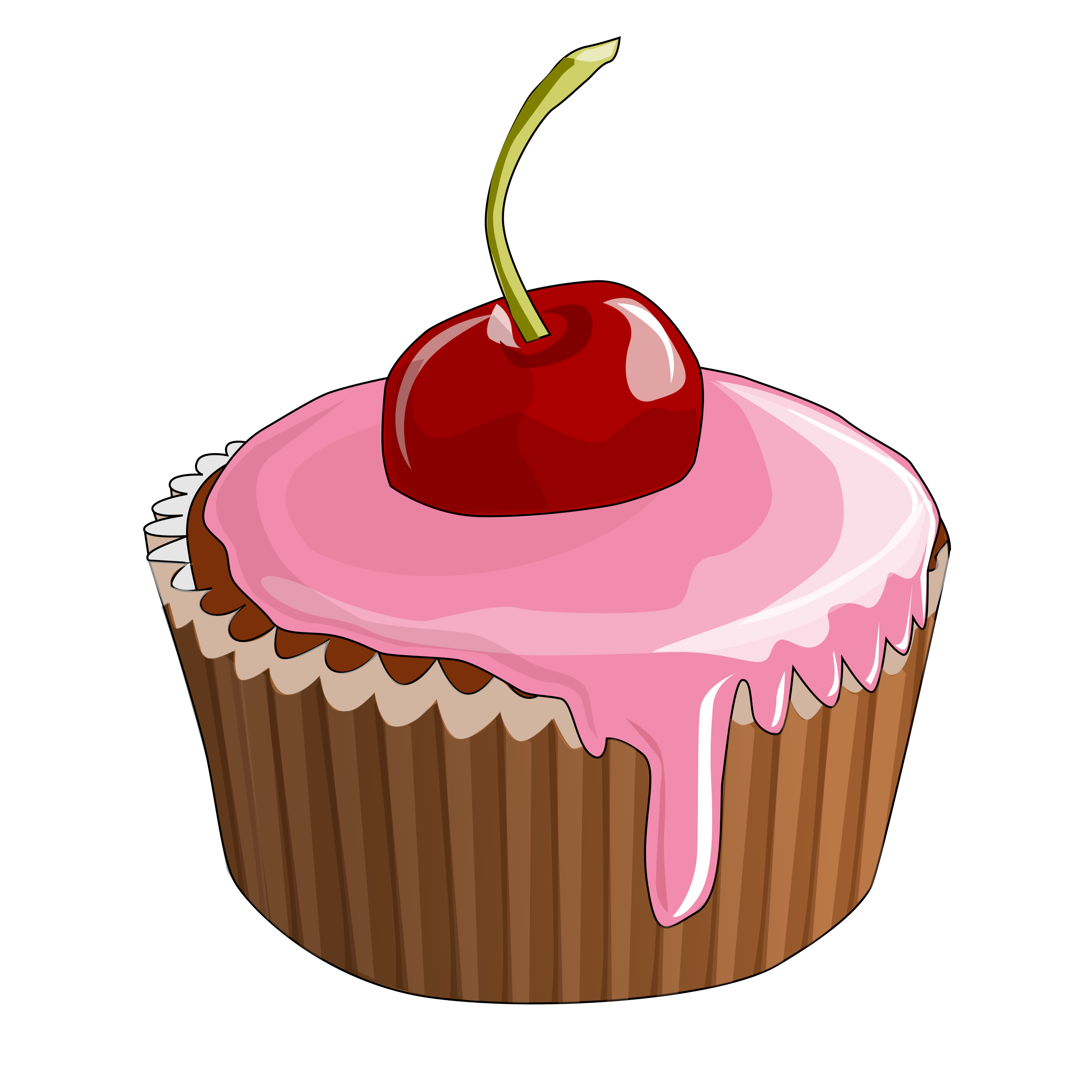 graphic black and white library Muffin free on dumielauxepices. Dessert clipart.