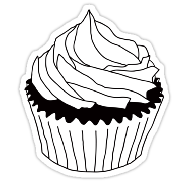 clip art library stock Cupcake Clipart Black And White