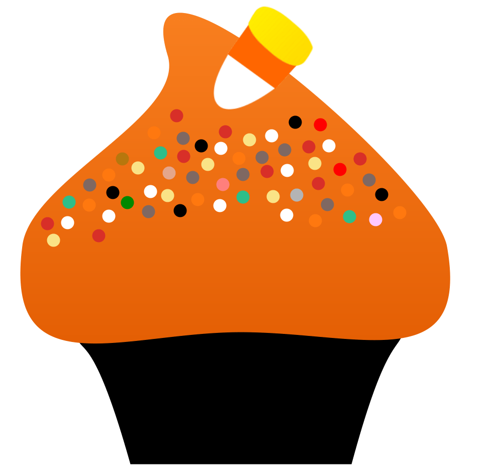 graphic freeuse Halloween clipart food. Cupcake empowering girls for