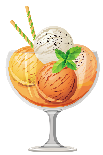 picture royalty free download Sundae clipart glass. Ice cream clip art