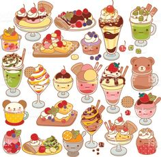 graphic library library Dessert drawing.  best cute drawings.