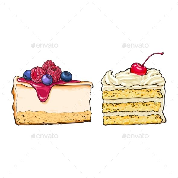 image library stock Hand drawn desserts
