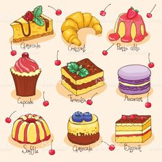 graphic library library  best cute drawings. Dessert drawing.