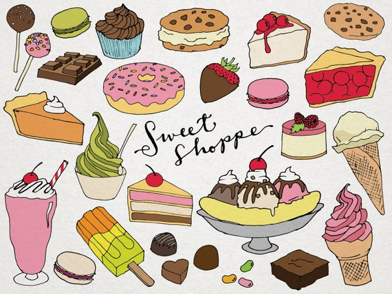 png royalty free Sweet shoppe clip art. Desserts clipart.