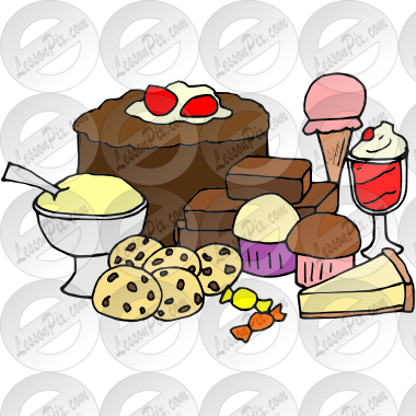 image freeuse library Desserts clipart. Picture for classroom therapy.