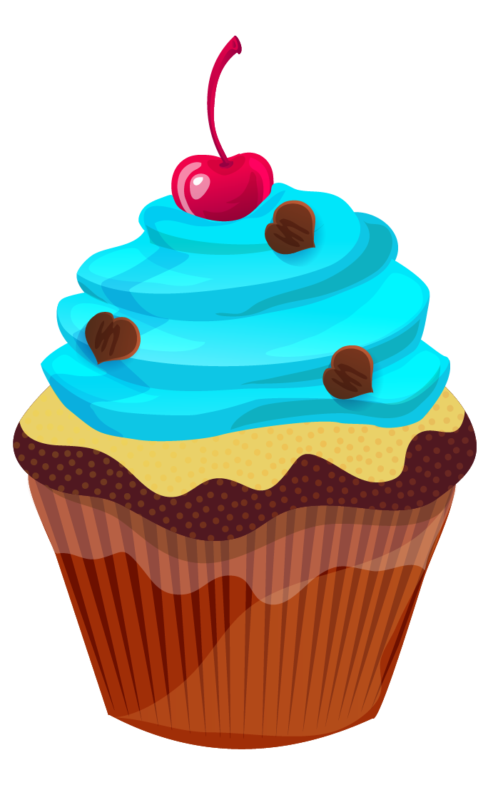 stock Cute cupcake clip art. Muffin clipart turquoise.