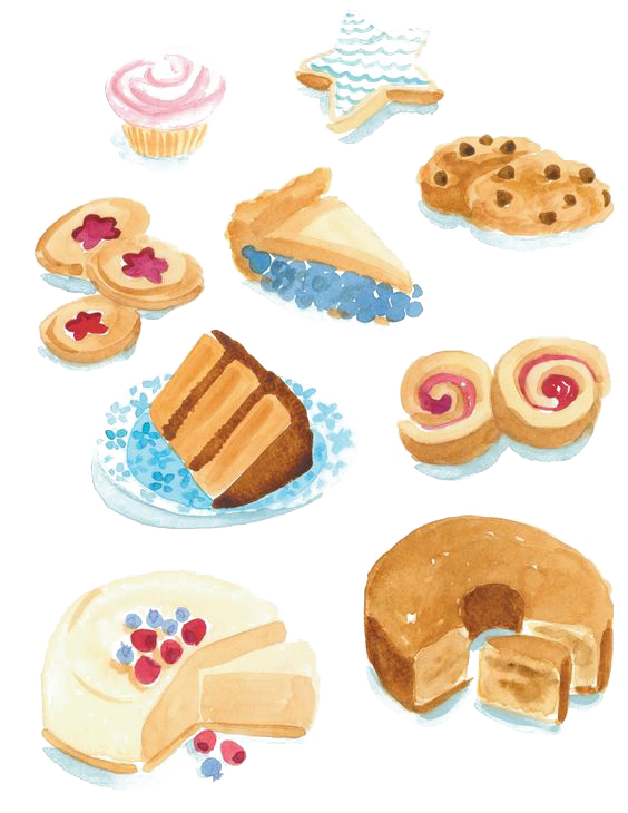 clip art free library Dessert drawing. Doughnut petit four clip.