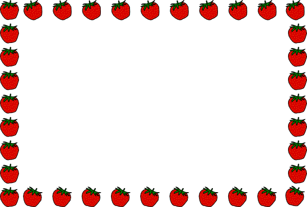 vector transparent stock Strawberry Clipart Border