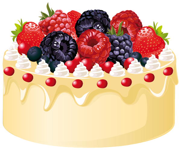 clipart transparent library Dessert clipart fruit cake