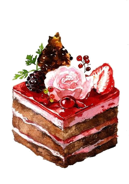 clipart free library Image du blog zezete. Baking drawing still life