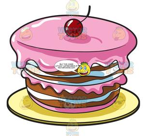 black and white download A round . Desserts clipart homemade cake.