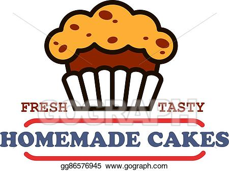 banner black and white library Desserts clipart homemade cake. Vector illustration cakes and.