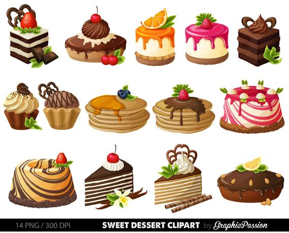vector transparent library Cake digital clip art. Desserts clipart pastry.
