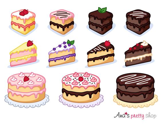 graphic download Desserts clipart pastry. Cake piece of bakery.