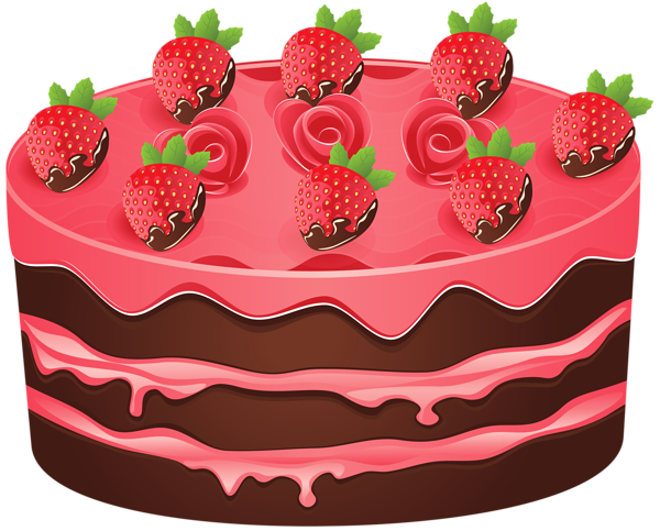 clip freeuse Strawberry Cake PNG Clipart Image