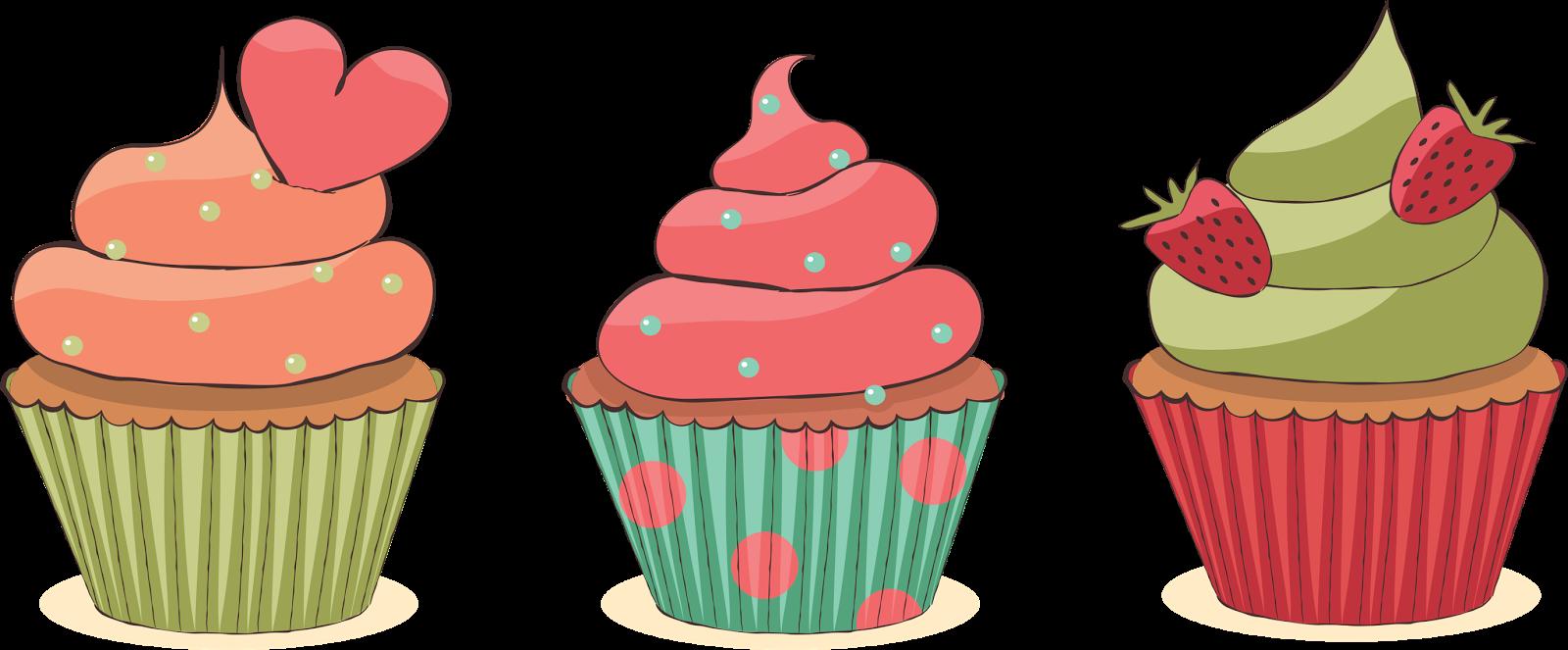 graphic transparent download cupcakes desenho vintage
